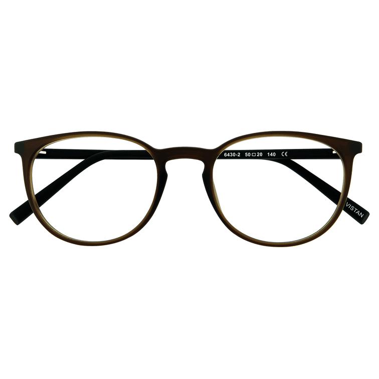 VISTAN Brille für Clip 6430 2 braun matt mit schwarz